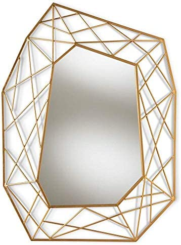 Baxton Studio Accent Wall Mirror in Antique Gold