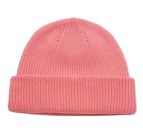 (Connectyle Classic Men's Warm Winter Hats Acrylic Knit Cuff Beanie Cap Daily Beanie Hat (Pink))