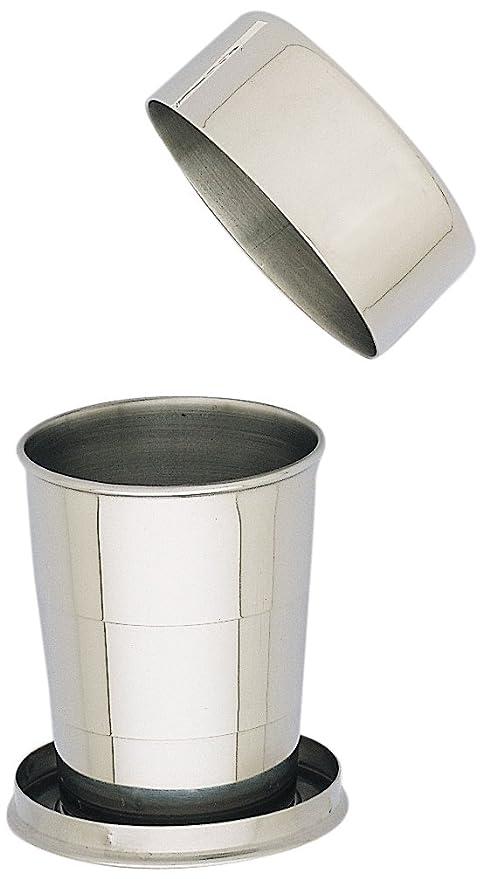 Keen 11629 - Vaso Plegable con Tapa (Acero Inoxidable, 150 ml)
