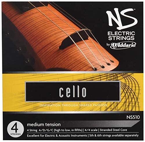 - D'Addario NS Electric Cello String Set, 4/4 Scale, Medium Tension
