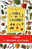 Image de Table des calories, 3e édition