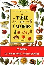Table des calories, 3e édition