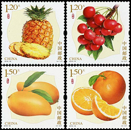 Serius Sale China Postage Stamp 2018-18 Fruits Stamps New 4Pcs MNH
