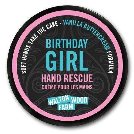 Walton Wood Farm Hand Rescue (Birthday Girl) Vanilla Buttercream Scent Vegan-Friendly and Paraben-Free 4 oz -