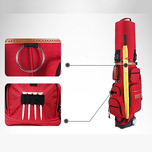PGM Padded Travel Cover Bag With Wheels With coded lock----Free Send a Rain Cover (red) by PGM (Image #2)