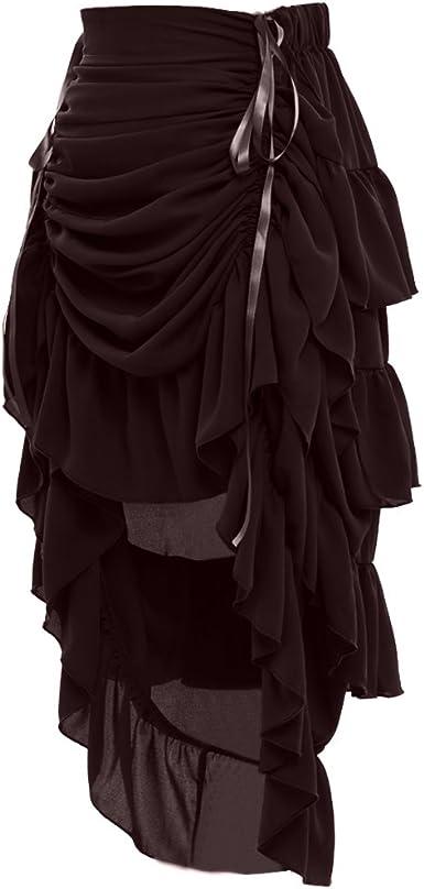 GRACEART Mujeres Victoriano Steampunk Falda: Amazon.es: Ropa y ...