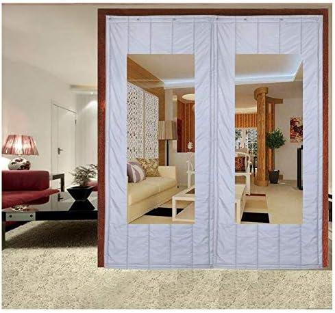 SHIJINHAO ドアカーテンオックスフォードは、ノイズ防風カーテン冬の熱保護ヘビーデューティ家庭用ドアパネル戸口スクリーンドアのショッピングモールを温めます (Color : Gray, Size : 1.5x2m)
