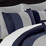 Chezmoi Collection 8-Piece Luxury Striped Comforter