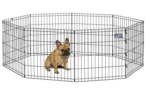 MidWest Foldable Metal Exercise Pen / Pet Playpen, 24'W x 24'H