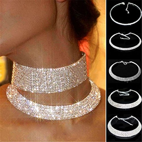 Swarovski Crystal Airplane (LuckyNine9 Charming Crystal Rhinestone Collar Choker Necklace Wedding Party Jewelry)