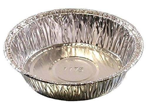 4'' Medium Aluminum Foil Mini-Pot PieTart Pan - Disposable Food Cake Baking Tins by Osislon Series