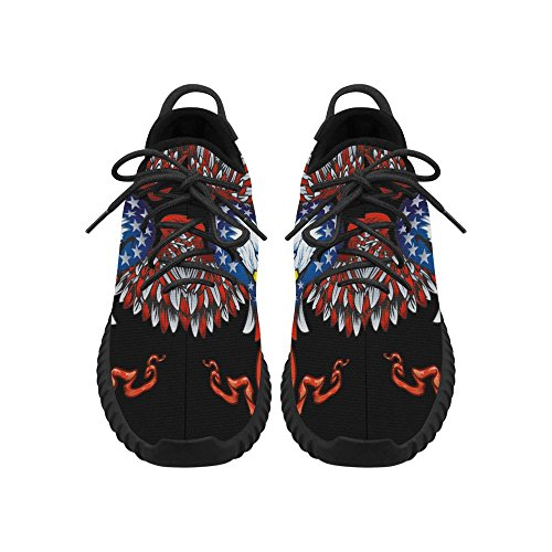 D-Story American flag Blad Eagle Grus Mens Boost Shoes Boost Sneakers Energy Bounce Breatheable Woven Running Mens Shoes