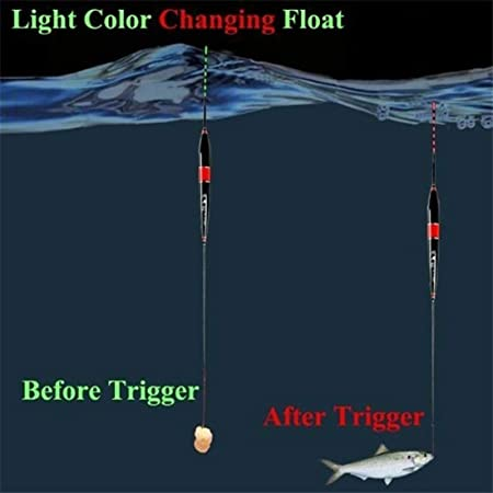 para Peces Que cambian de Color Yeloong 3pcs//Lot Luz de Noche Luminoso LED Flotadores De Pesca Alarma Pesca Flota