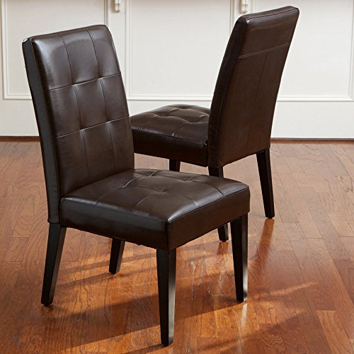 Oversized Tufted Dining Chair in Brown - Set of 2 by Best Selling Home