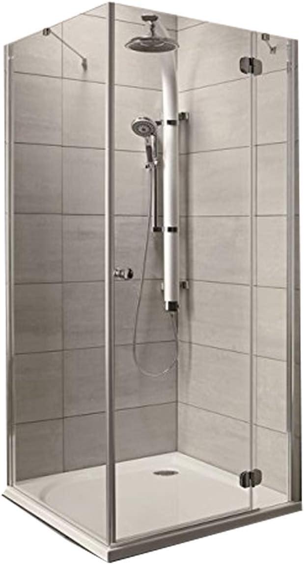 Torrenta KDJ Mampara de ducha rectangular, cabina de ducha rectangular, con plato de ducha, Cristal transparente., 120x90 cm Rechts: Amazon.es: Hogar