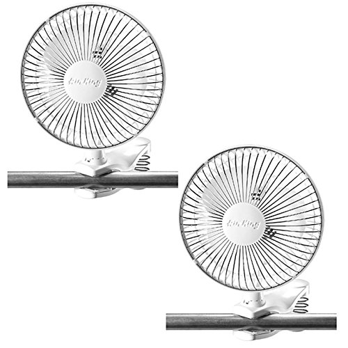 Air King 6 Inch Commercial 120V Personal Clip On Fan Air Circulator (2 Pack) by Air King