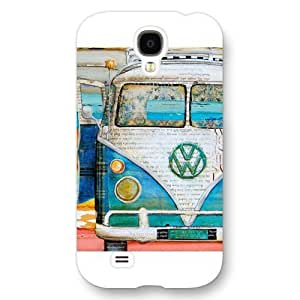 UniqueBox Customized White Frosted Samsung Galaxy S4 Case, VW Minibus Samsung S4 case, Only fit Samsung Galaxy S4 WANGJING JINDA