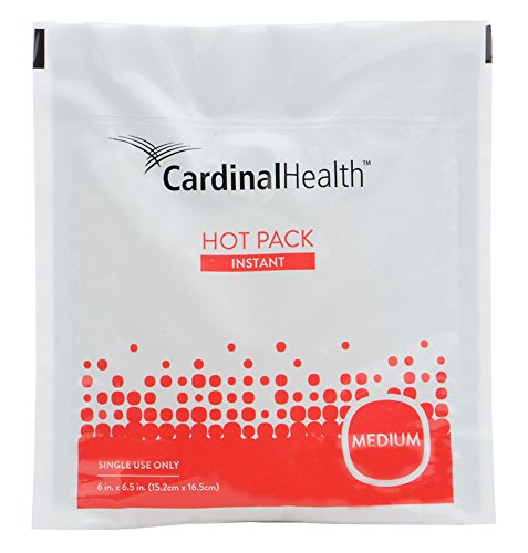 Cardinal Health 11450-040 Instant Heat Therapy Pack, Disposable, 6 in. x 6.5 in., Medium (Pack of 10)