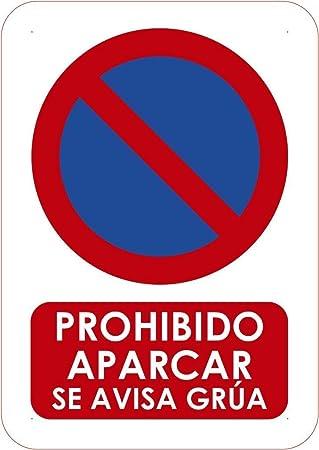 Oedim eñaletica para Exteriores Prohibido Aparcar se Avisa Grua l Tamaño A5 (21x14,8cm) | Señaletica en Material Aluminio 3 mm Resistente: Amazon.es: Hogar