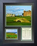 """Legends Never Die The Old Course at St. Andrews Golf Course Collage Photo Frame, 11"""" x 14"""""""
