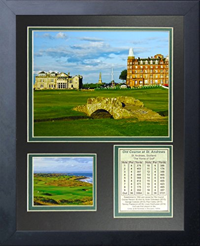 Golf Course (Legends Never Die The Old Course at St. Andrews Golf Course Collage Photo Frame, 11