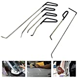 WHDZ PDR Rods Auto Body Dent Repair Hail Damage Removal Tools Dent Hammer for Door Dings Hail Repair and Dent Removal ( 6 Pieces )