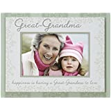 Malden International Designs Great-Grandma Double Layer Wood Picture Frame 4x6, Green