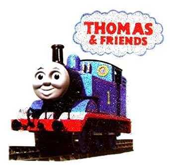 THOMAS the Tank Engine Train blue railroad Iron On Transfer for T-Shirt