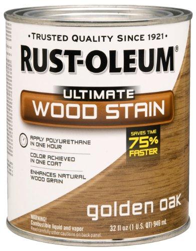 RUST-OLEUM 260143 Quart Gold Oak Interior Wood Stain