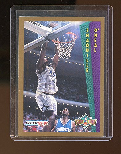(1992-93 Fleer #298 Shaquille O'Neal Orlando Magic Rookie Card - Mint Condition Ships in New Holder )