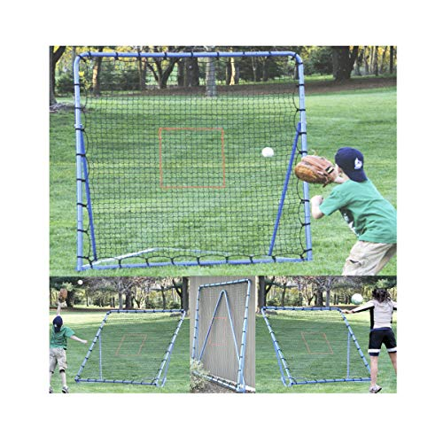 EZGoal Multi-Sport Folding Rebounder Net, 6 x 6-Feet, Blue (Renewed)
