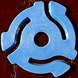 (10 Pack) Blue Plastic 45 RPM 7 Inch Vinyl Record Adapter / Adaptor - 7