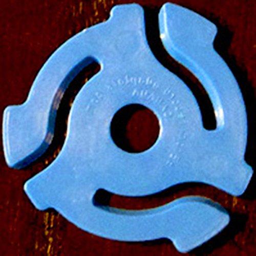 Sale!! (10 Pack) Blue Plastic 45 RPM 7 Inch Vinyl Record Adapter / Adaptor - 7 Flat Inserts