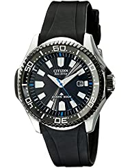 Citizen Mens Eco-Drive Promaster Diver Watch with Date, BN0085-01E