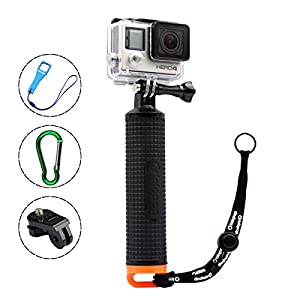 LOTOPOP Waterproof Floating Hand Grip for Gopro Hero 4 Session 3+ 3 - Handle Mount Accessories Kit and Water Sport Pole for GeekPro 3.0 and ASX Action Pro Cameras Action Camera Accessories