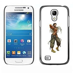 Caucho caso de Shell duro de la cubierta de accesorios de protección BY RAYDREAMMM - Samsung Galaxy S4 Mini i9190 - Mujer de Rasta