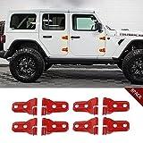 JeCar 2018 Jeep JL accessories Red Door Hinge Cover For Jeep Wrangler 4 Door&2 Door- 8PCS
