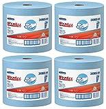 WypAll 34965 X60 Wipers, Jumbo Roll, 12 1/2 x 13 2/5, Blue, 1100 Sheets Per Roll, 4 Roll