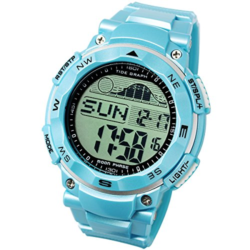 [LAD WEATHER] Tide graph watch Moon phase High & Low tide Pacer Fishing/ Surfing/ (Tide 20 Sport Watch)