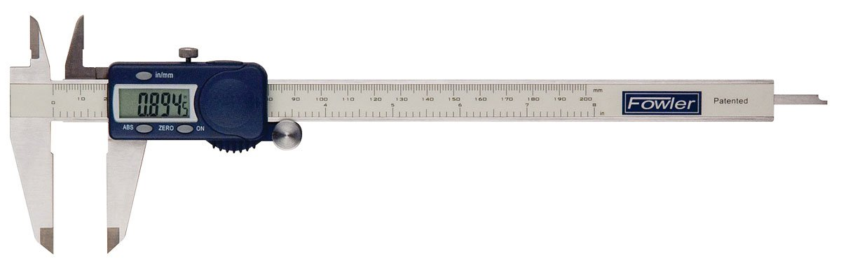 Fowler 54-101-600-1 Stainless Steel Frame Xtra-Value Cal Electronic Caliper with Super Large Display, 6'' Maximum Measurement