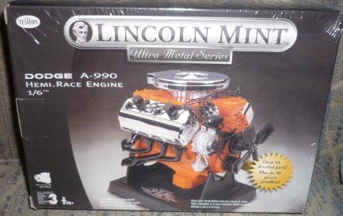 #455 Testors Lincoln Mint Dodge A-990 Hemi Race Engine 1/6 Scale Metal Model Kit,Needs Assembly