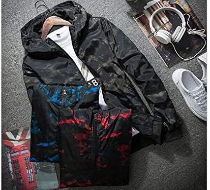 [GlowSky] 迷彩 ウィンドブレーカー フード付き メンズ 春夏 カモフラ アウトドア 防風 軽量 ジャケット