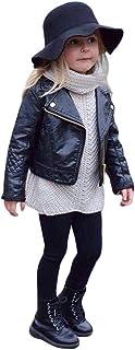 Girl Boy Kids Baby Leather Coat, Short Jacket Clothes Outwear Autumn Winter Warm Zipper Coat Clothes
