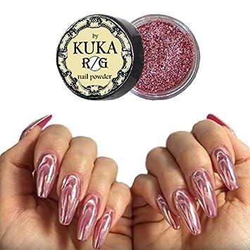 Kuka Pure Rose Gold Nail Chrome Mirror Powder Effect Glitter Nail