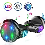TOMOLOO Hoverboard TOMOLOO Self-Balancing Scooter UL2272 Certified 6.5' Wheel Hoverboard with Bluetooth Speaker and Colorful LED Lights