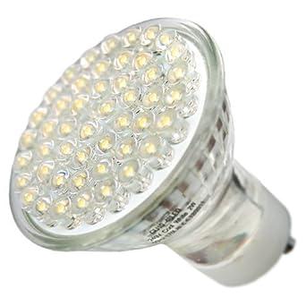 procure direct ltd gu10 led light bulb 48 led 190 lumens warm white x 1 lamp equal to 40w. Black Bedroom Furniture Sets. Home Design Ideas