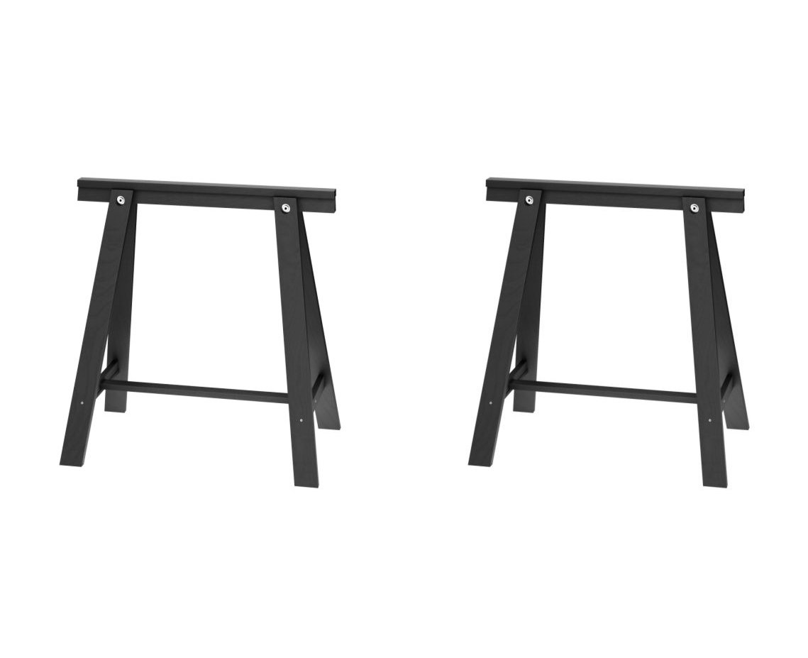 IKEA ODDVALD Trestle, Black - 2 Pack [2 Individual Units Included] by IKEA