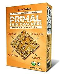 Organic Primal Thin Crackers (Low Carb, Gluten Free, Grain Free) (Organic Parmesan)