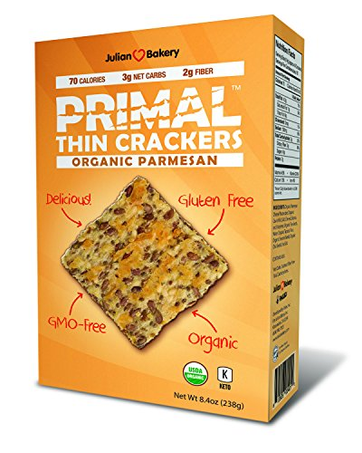 Organic Primal Thin Crackers (Low Carb, Gluten Free, Grain Free) (Organic (Flax Crackers)