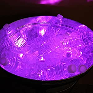 Club Pack of 12 Battery Operated LED Purple Waterproof Tea Lights